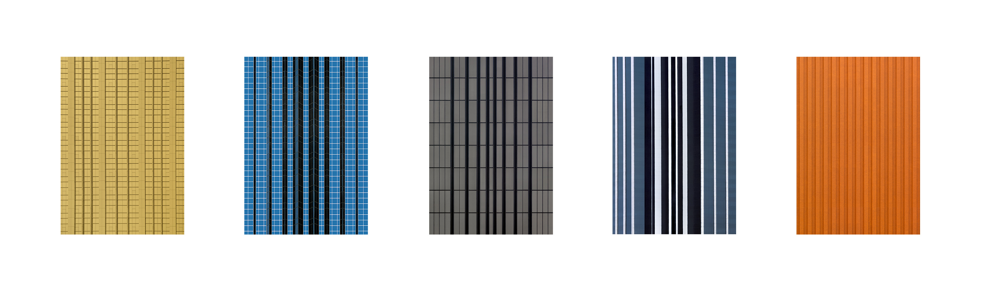 Façade Series F15, 2008 – C-print face-mounted to plexiglass, 50 x 35 cm (19 3/4 x 13 3/4 inches) each, group of 5