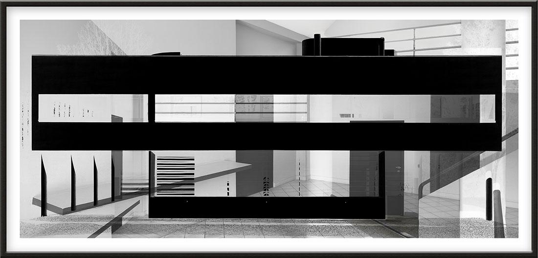 Villa Savoye, 2008, 144,6 x 304 cm, (57 x 119 3/4 inches) [architect: Le Corbusier]