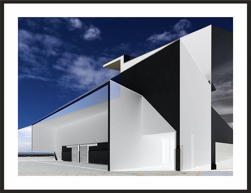 Campo Maior, 2011, 164 x 212,3 cm (64 1/5 x 83 1/2) [architect: Alvaro Siza]